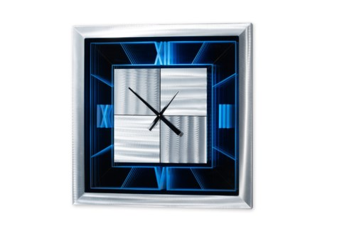 Span Multi-Color Infinity Clock Square Silver