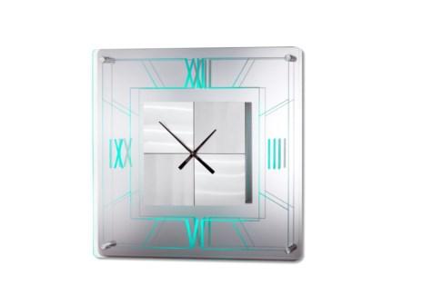 Trevi Multi-Color Clock Silver