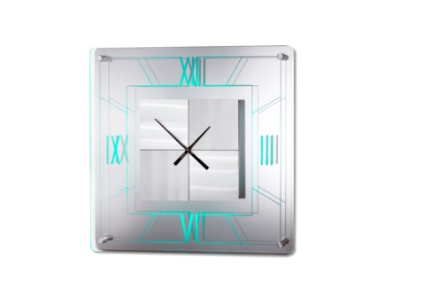 Trevi Multi-Color Clock Silver