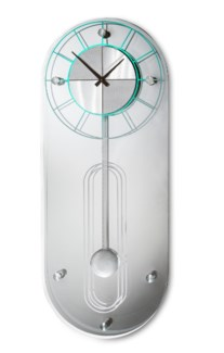 Alexandria Pendulum Multi-Color Clock Silver