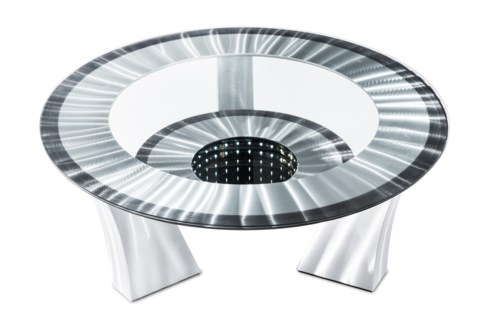 Tunnel Vision Cocktail Table Silver