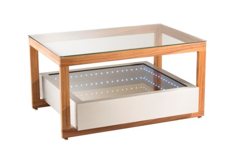 Cantilever Infinity Cocktail Table Silver