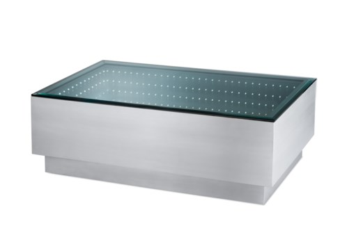 Havana Cocktail Table Rectangle Silver
