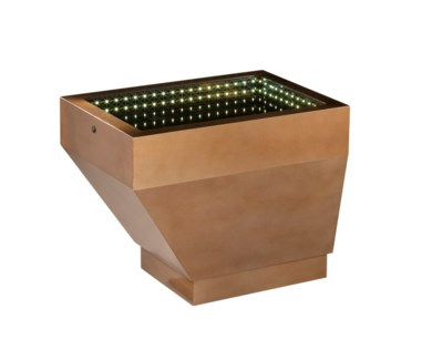 Prow Infinity Cocktail Table Small Dorado Gold