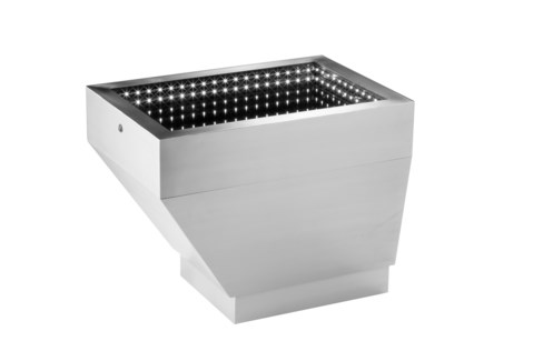Prow Infinity Cocktail Table Small Silver