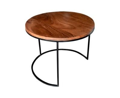 Parota Cocktail Table Large Matte Black