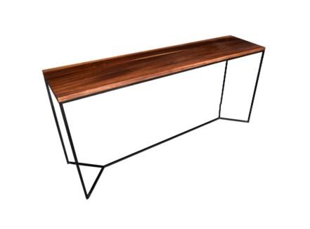 Parota Console Table Matte Black