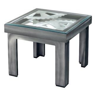 Gears End Table Charcoal