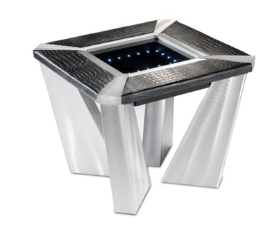 Croc Infinity End Table Silver
