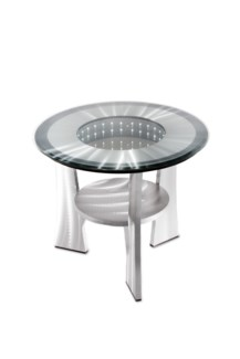 Tunnel Vision End Table Silver