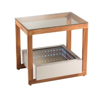 Cantilever Infinity End Table Silver