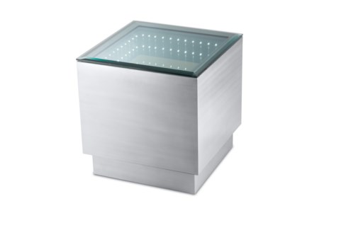 Havana End Table Square Silver