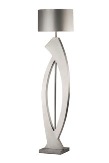 Swerve Floor Lamp Silver