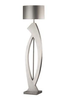 Swerve Floor Lamp Silver