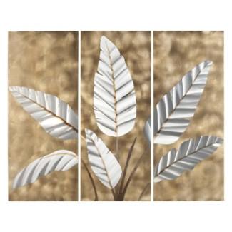 Metallic Leaves Wall Graphic