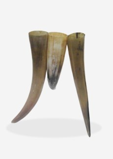 "(LS) 19""H Decorative Triple Horn Vase (Natural Material)"