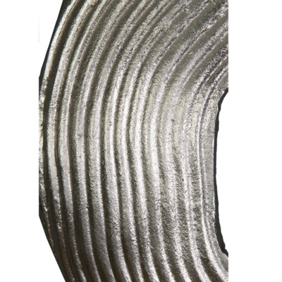 LS) Antique Pewter Finished Abstract Metal Wall Decor - decorative ...