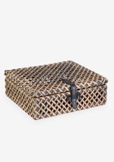 Decorative rattan Box - Natural Brown