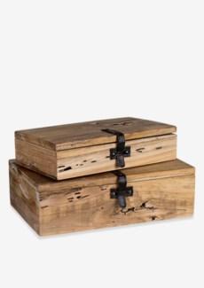 Decorative wooden box set - 2