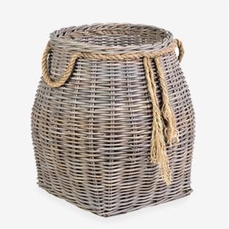 Sabrina Accent Rattan Basket - Large