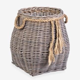 Sabrina Accent Rattan Basket - Small