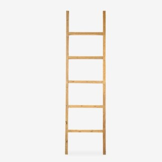 Vintage Style Decorative Ladder - Antique Natural Finish (20x2.5x71)