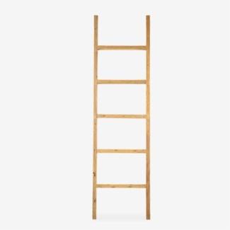 Vintage Style Decorative Ladder - Antique Natural Finish (20x2.5x71)