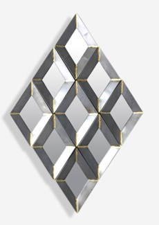 Zinc Finished With Brass Weldings Metal Wall Decor (42.25x25.25x1.5)