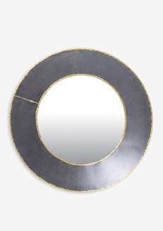 Zinc Finished With Brass Weldings Metal Concave Mirror (17.75x19.75x3)