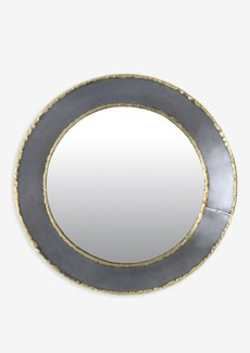 (LS) Zinc Finished With Brass Weldings Metal Concave Mirror (30x30x3)