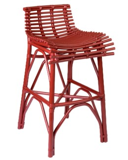 (LS) Franklin Barstool-Red..CBM:0.2