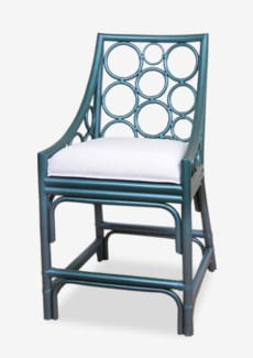 (SP) Roman Counter Stool -Blue Metallic(20X22X37)