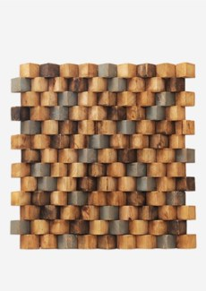 Grand Terrace Wood Mosaic - Multicolor (15.75X15.75X0.98) = 1.72 sqft