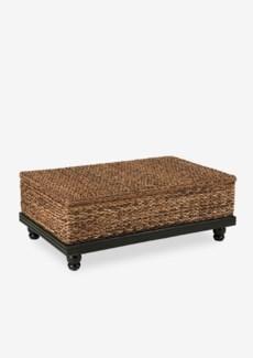 Tropical Coffee Table Abaca Small Astor w/ Storage (47x30x18)