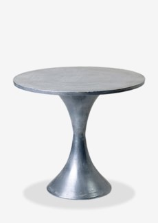 (LS) Zinc Finished Metal Pedestal Cocktail Table (22x22x21)