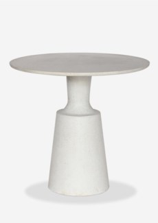 "31"" Round Outdoor Dining Bistro Table - Reinforced Fiberglass - Pendulum Design(31X31X29)"