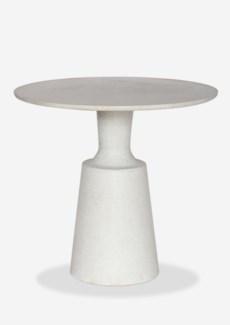 "31"" Round Outdoor Dining Bistro Table - Reinforced Fiberglass - Pendulum Design(31X31X29)"