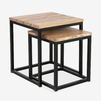 Denton side table  Set of 2 - Bistro Grey