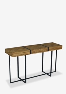 (SP) Blake reclaimed natural teak bundle with metal straps console tableDimension: 55X15X31.5