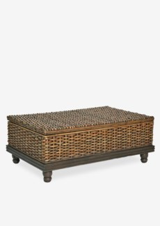 West Indies Woven Cocktail Table With Storage (48x30x18)