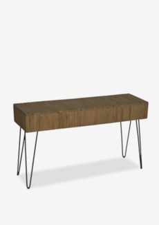 Sycamore vintage wash console table with angle metal leg (K/D)Dimension: 55x16x31