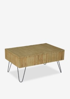 (SP) Sycamore Vintage Wash Cocktial Table with Angle Metal Leg (K/D) (35x24x18)..