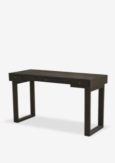 "Newbury 55"" Solid Wood Console Desk with 3 Drawers with Square Base in Espresso Wash (K/D) (55x22x30"