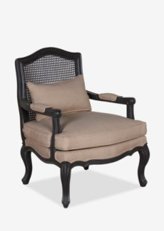 (LS) Adele Occassional Chair With Wood Frame -Vintage Black Frame (28x28x38,4)