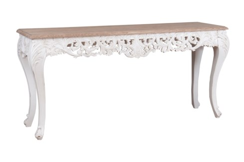 Baroque Carving Solid Wood Console Table  (64x18x31,2)