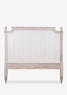 (SP) Orleans headboard-Queen (Ivory Color)
