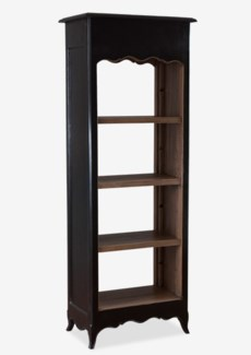 La Salle Open Bookcase (narrow) - Vintage Black Frame (26x16x70)