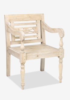 Promenade Carved Wood Chair(23.75X25X34.25)