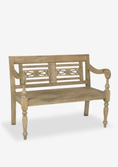 Promenade Carved Wood Bench(43.25X25X34.25)