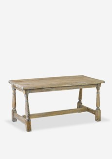 Promenade bench with turned legs (43X20.5X20.5)